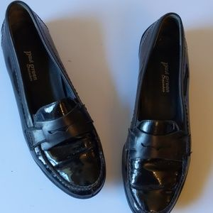 Paul Green black patent leather loafers-sz 7 1/2